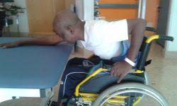Nicolas in riabilitazione all'ospedale di Padova